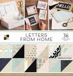 DCWV Letters From Home Premium Paper Stack 12 x 12