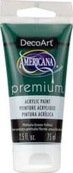 DecoArt Americana - Premium Acrylic Paint - 2.5floz (75ml) Tube -  Phthalo Green-Yellow