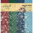 Graphic 45 - Let it Snow - Paper Pad 12 x12 Inch - Patterns & Solids