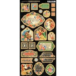 Graphic 45 Little Women Chipboard Die-Cuts 6