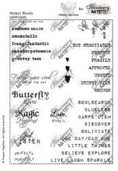 Illusionary Artists - France Papillon - Perfect Words A5 unmounted rubber stamp set