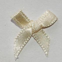 Ivory Ribbon Bows - Pkt 50