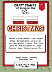Lisa Horton Crafts - Layered Words - Christmas Stamp and Die Set