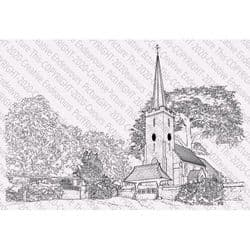 Picture This - A6 Stamp - Church