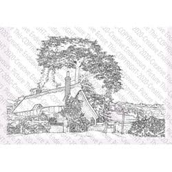 Picture This - A6 Stamp - Cottage
