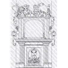 Picture This - A6 Stamp - Festive Fireplace - 069