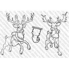 Picture This - A6 Stamp - Santa's Reindeer - 071