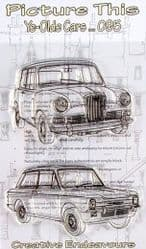 Picture This - A6 Stamp -  Ye Olde Cars - 095