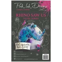 Pink Ink - A5 Clear Stamp  - Rhino Saw Us