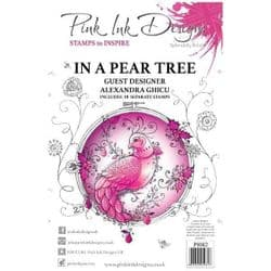 Pink Ink - A5 Clear Stamp Set  - In A Pear Tree
