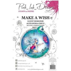 Pink Ink - A5 Clear Stamp Set  - Make A Wish