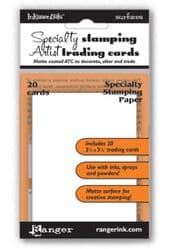 Ranger - Inkssentials - Specialty Stamping Paper - ATC, Artist Trading Cards (Packet 20)