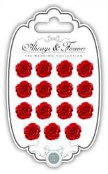Resin Flowers - Always & Forever - The Wedding Collection - Red Pk 15