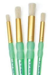 Royal & Langnickel - White Bristle Stencil Brushes - 4 pack