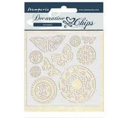 Stamperia - 14 x 14 cm Decorative Chips - Amazon Butterfly Tribal