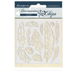 Stamperia - 14 x 14 cm Decorative Chips - Amazon Feather