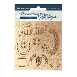 Stamperia - 14 x 14 cm Decorative Chips - Good Luck