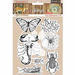 Stamperia - 14 x 18 cm HD Natural Rubber Stamp - Amazonia Butterfly