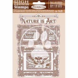 Stamperia - 14 x 18 cm HD Natural Rubber Stamp - Nature Is Art Frames