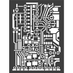 Stamperia - Antonis Tzanidakis - Mechanical Fantasy - Thick Stencil -15 x 20cm - Circuit Board