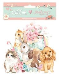 Stamperia - Assorted Die Cuts – Circle Of Love Cats, Dogs and Embellishments