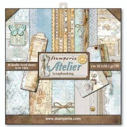 Stamperia - Double-Sided 12 x 12 Inch Paper Pack - Atelier