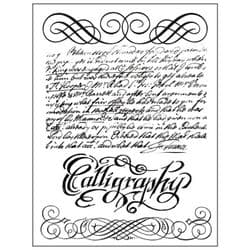 Stamperia - Natural Rubber Stamp - Calligraphy