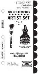 Stampers Anonymous Studio 490 Stamps by Wendy Vecchi - Tools for Art LCS049