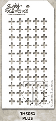THS053 Stampers Anonymous Tim Holtz Layering Stencil - Plus