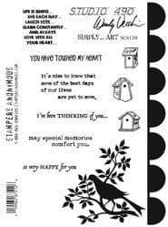Wendy Vecchi Studio 490 Cling Mounted Stamps - SCS139 Simply Art