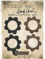 Wendy Vecchi, Studio 490, Embellish Your Art - Small Round Floral Accents (set of 4)