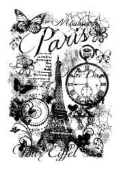 Woodware Clear Singles Stamp - Paris Collage