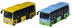 23-600A Kato Scale: 1:150, N Hino Poncho Bus Set (1xYellow/1xBlue)