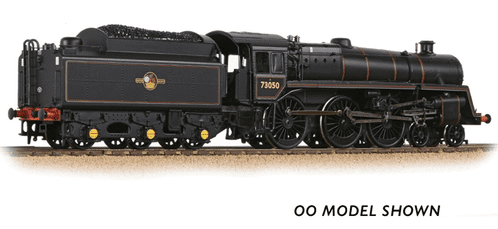 372-729 Farish BR Standard 5MT with BR1 Tender 73050 BR Lined Black (Late Crest)