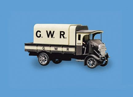5136 Modelscene: OO ROAD VEHICLE KITS  Thornycroft PB 4 ton Lorry, GWR Livery (Unboxed)