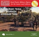62009 Plastic Soldier Company 1/72 Scale Allied Sherman M4A1 76mm Wet Tank (3)