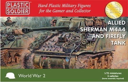 62022 Plastic Soldier Company 1/72 Scale Allied Sherman M4A4 Firefly Tank (3)