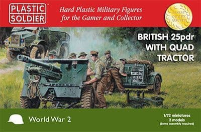 62031 Plastic Soldier Company 1/72 Scale 25pdr and Morris Tractor (2)