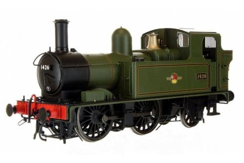 7S-006-023 Dapol O GAUGE 14XX CLASS BR LATE CREST LINED GREEN 1426 AUTO FITTED TOP FEED