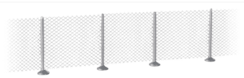 949-900 Walthers Cornerstone Metal Industrial Fence Kit