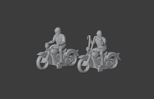 Arch Laser A3D061 N Gauge 1936 Knucklehead motorcycle with rider (pack of 2) (unpainted)