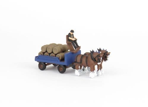 Arch Laser A3D125 N Gauge Horse Drawn Brewery Dray and Driver