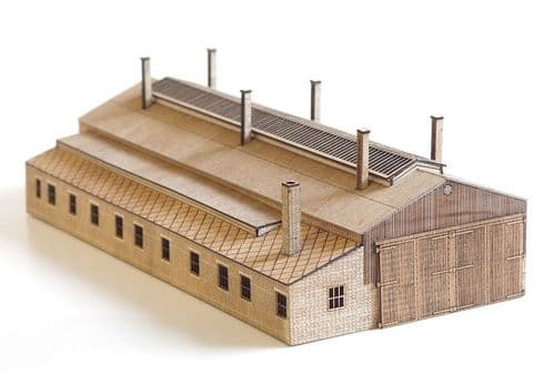 Arch Laser ALN0004 N Gauge GWR Standard 1930's Loan Act Shed Kit