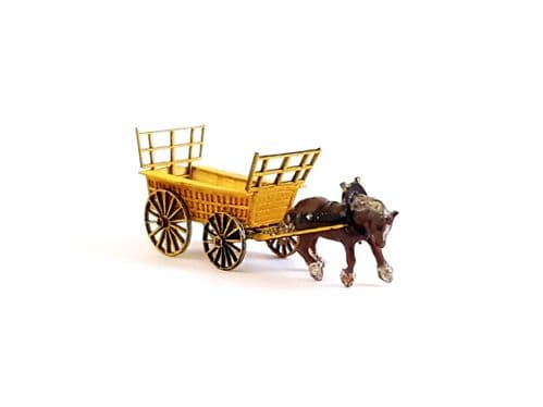 Arch Laser N Scale Devon Farm Cart Kit + 3D Printed Horse (unpainted)