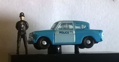Arch laser Policeman and his Oxford Diecast Panda car.