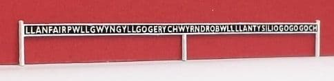ARCH0050  Arch Laser : Station Name Boards OO Scale (GWR type) (Pair)