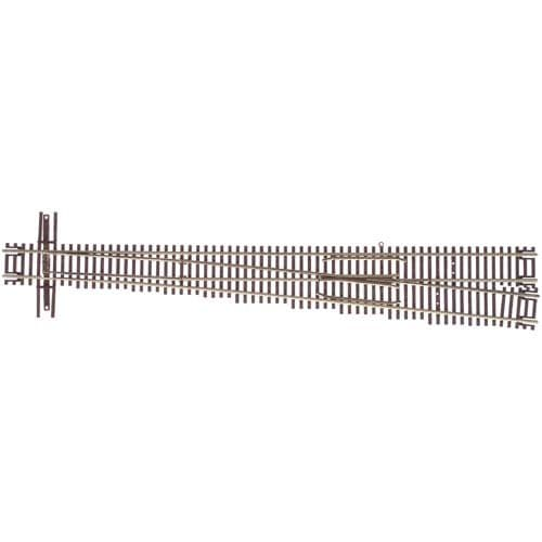Atlas 2055 Code 55 Track w/Nickel-Silver Rail & Brown Ties -- #10 Turnout - Right Hand