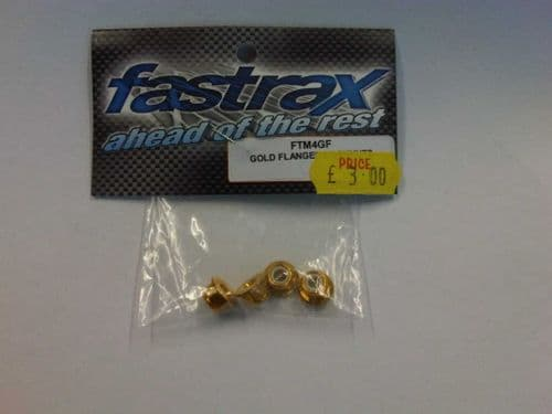 CML Fastrax: FTM 4GF Gold flanged Lock Nuts (4)