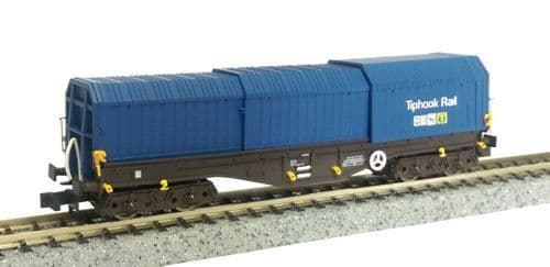 Dapol 2F-039-011 Telescopic Hood Wagon Tiphook Blue 33 70 0899 010-9