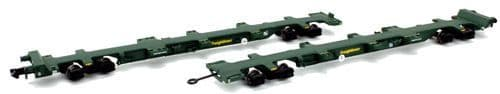 Dapol2F-044-002 FEA-B Spine Wagon Twin Pack Freightliner 640721/722